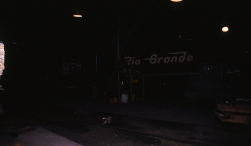 D&amp;RGW #478 in a roundhouse.<br /> D&amp;RGW