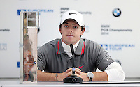Winner Rory Mcilroy during the post tournemant press conference - PGA European Tour Golf at Wentworth, Surrey 25/05/14 - MANDATORY CREDIT: Rob Newell/TGSPHOTO - Self billing applies where appropriate - 0845 094 6026 - contact@tgsphoto.co.uk - NO UNPAID USE