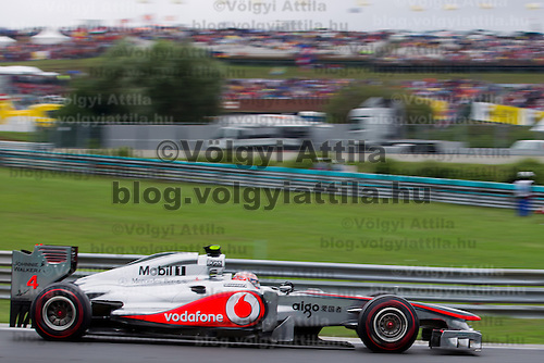 Mercedes Formula One driver Nico Rosberg of Germany drives during Hungarian F1 Grand Prix in Mogyorod (about 20km north-east from Budapest), Hungary. Sunday, 31. July 2011. ATTILA VOLGYI