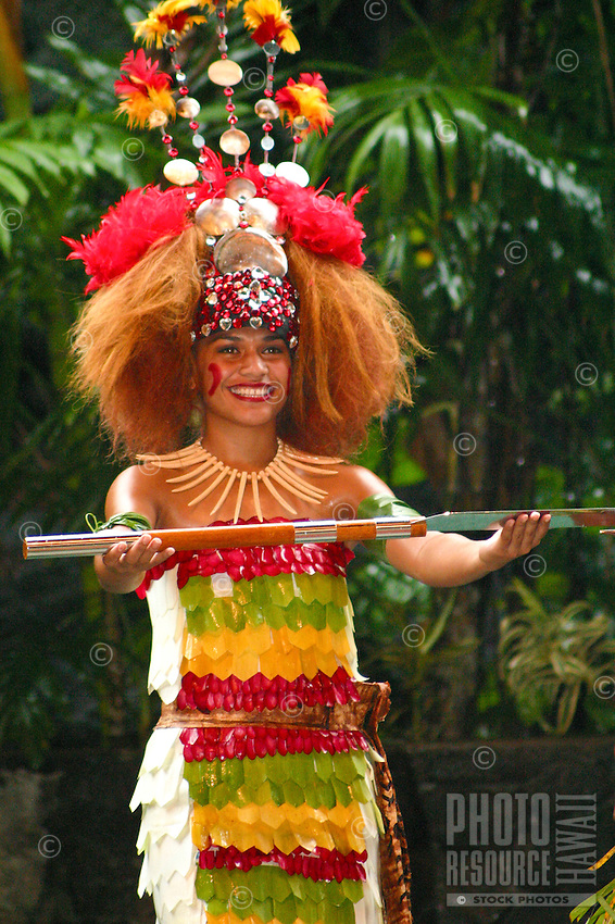 Samoan girl doing a taualuga dance. This dance is traditionally performed by a chiefs daughter (samoan princess).