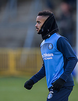 Paris Cowan-Hall of Wycombe Wanderers warms up before the Sky Bet League 2 match between Wycombe Wanderers and Newport County at Adams Park, High Wycombe, England on 2 January 2017. Photo by Andy Rowland.