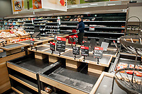 The produce section is bare during these days of the COVID-19 pandemic, at the Target store in Alexandria, Va., Monday, March16, 2020. Credit: Rod Lamkey / CNP/AdMedia