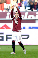 12th January 2020; Olympic Grande Torino Stadium, Turin, Piedmont, Italy; Serie A Football, Torino versus Bologna; Alejandro Berenguer of Torino FC celebrates after scoring the goal for Torino  in the 11th minute - Editorial Use