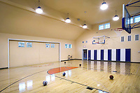 Residential Indoor Basketball Court With HID Lighting