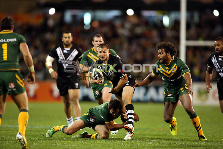 Kieran Foran. Kangaroos v Kiwis. ANZAC League Test. Canberra Stadium, Canberra, Australia. Friday 19 April 2013. Photo: Paul Seiser/Photosport.co.nz