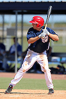 Washington Nationals outfielder Billy Burns #33 during an Instructional League game against the national team from Italy at Carl Barger Training Complex on September 28, 2011 in Viera, Florida.  (Mike Janes/Four Seam Images)