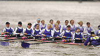Chiswick, London. ENGLAND,11.03.2006,University of London BC, [left] moving past Durham University BC, as both crews pass Chiswick Pier, during the 2006 Women's Head of the River Race,  Mortlake to Putney  on Saturday 11th March    © Peter Spurrier/Intersport-images.com.. 2006 Women's Head of the River Race. Rowing Course: River Thames, Championship course, Putney to Mortlake 4.25 Miles