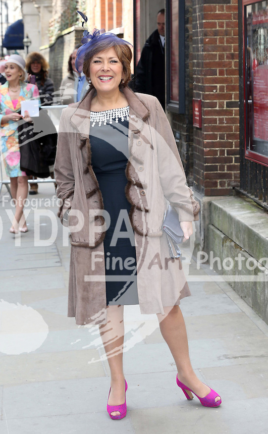 Lynda Bellingham   arriving for the wedding of Coronation Street actress Helen Worth   at St.James's Church in Piccadilly, London, Saturday 6th   April 2013.  Photo by: Stephen Lock / i-Images / DyD Fotografos