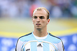 24 June 2006: Esteban Cambiasso (ARG). Argentina (1st place in Group C) defeated Mexico (2nd place in Group D) 2-1 after extra time at the Zentralstadion in Leipzig, Germany in match 50, a Round of 16 game, in the 2006 FIFA World Cup.