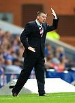 Eddie May bawls orders to his Falkirk players