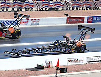 Mar 30, 2014; Las Vegas, NV, USA; NHRA top fuel driver Bob Vandergriff Jr during the Summitracing.com Nationals at The Strip at Las Vegas Motor Speedway. Mandatory Credit: Mark J. Rebilas-