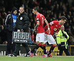 Angel Di Maria of Manchester United is substituted and Ander Herrera OF Manchester United sent on in his place - FA Cup Fourth Round replay - Manchester Utd  vs Cambridge Utd - Old Trafford Stadium  - Manchester - England - 03rd February 2015 - Picture Simon Bellis/Sportimage