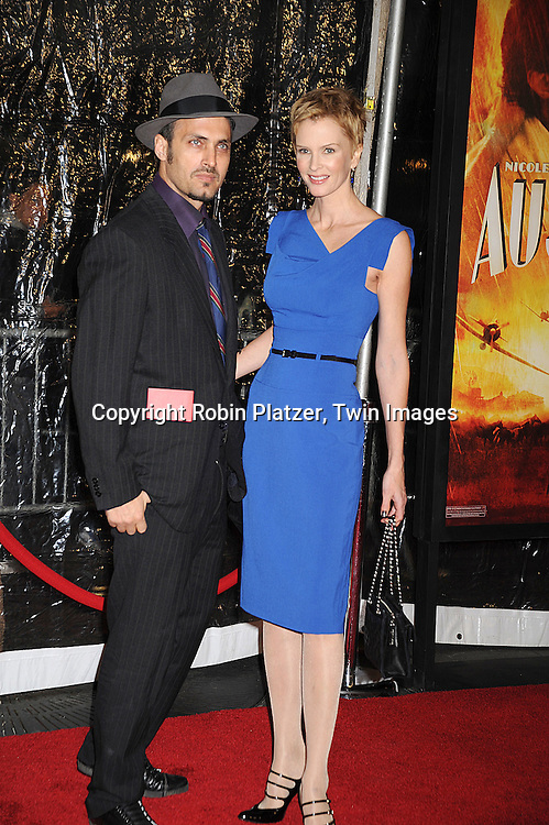 "Kylie Bax and guest..posing for photographers at The New York Movie Premiere of ""Australia"" on November 24, 2008 at The Ziegfeld Theatre. ....Robin Platzer, Twin Images....212-935-0770"