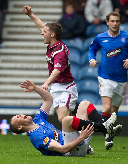 Kenny Miller fouled by Scott Robinson