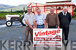 The Mid Kerry Vintage Rally takes place on Sunday, August 31st. <br /> L-R Denis Tangney, Pat Moriarty, Brendan Dennehy and Mike McKenna.