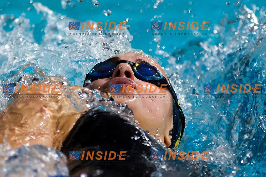 PANZIERA MArgherita - Circolo Canottieri Aniene<br /> 200m dorso donne<br /> Campionati Italiani Assoluti Nuoto Invernali Open Fin<br /> Riccione Italy 17/12/2015<br /> Photo Giorgio Perottino/Deepbluemedia/Insidefoto
