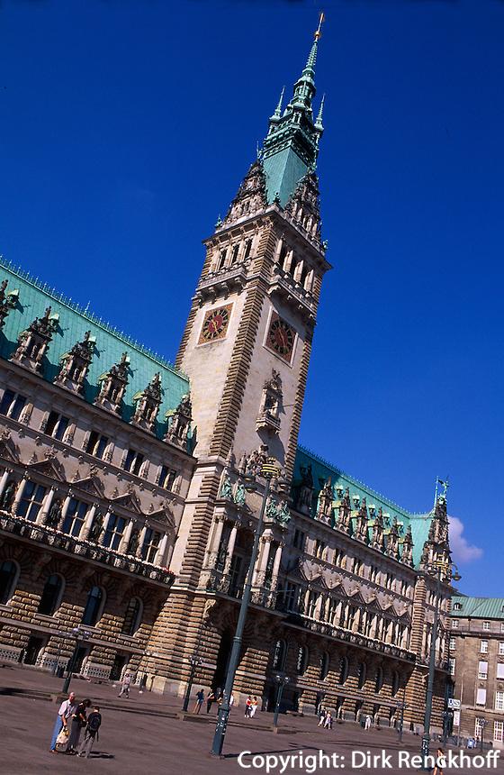Deutschland, Rathaus in Hamburg