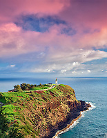Kilauea Lighthouse. Kilauea Point National Wildlife Refuge, Kauai, Hawaii.
