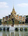 Bang Pa-In Palace Aisawan Thipya-Art (Divine Seat of Personal Freedom) near Bangkok, Thailand.