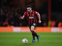 27th January 2020; Vitality Stadium, Bournemouth, Dorset, England; English FA Cup Football, Bournemouth Athletic versus Arsenal; Lewis Cook of Bournemouth brings the ball forward