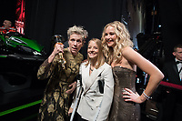 Frances McDormand, Oscar&reg; winner for best actress in a leading role to for work on &quot;Three Billboards Outside Ebbing, Missouri&quot;, Jodi Foster and Jennifer Lawrence pose backstage during the live ABC Telecast of The 90th Oscars&reg; at the Dolby&reg; Theatre in Hollywood, CA on Sunday, March 4, 2018.<br /> *Editorial Use Only*<br /> CAP/PLF/AMPAS<br /> Supplied by Capital Pictures