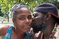 James Bolden and Deborah Leatherberry (left) are seen here in Vernon Park in East Germantown, Philadelphia, Pennsylvania, on Tues., July 26, 2016.