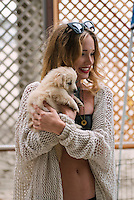 Samantha Tressler at Puppies & Parties Presents Malibu Beach Puppy Party (Photo by Tiffany Chien/Guest Of A Guest)