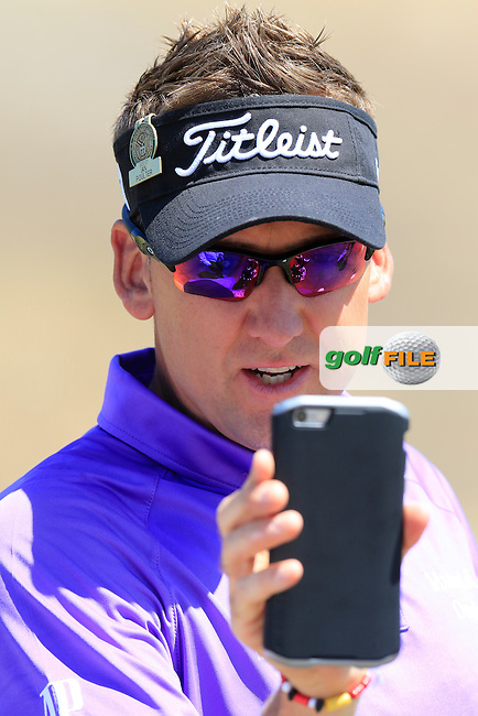 Ian Poulter (ENG) snaps the snappers on the range during Wednesday's Practice Day of the 2015 U.S. Open 115th National Championship held at Chambers Bay, Seattle, Washington, USA. 6/17/2015.<br /> Picture: Golffile   Eoin Clarke<br /> <br /> <br /> <br /> <br /> All photo usage must carry mandatory copyright credit (&copy; Golffile   Eoin Clarke)