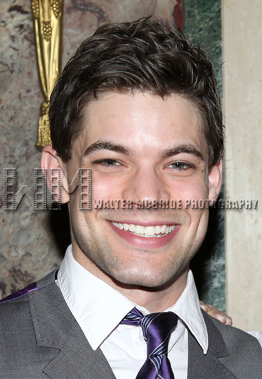 Jeremy Jordan .attending the 2012 New York Theatre Workshop Spring Gala Honoring Barbara Warner Howard & Thomas Schumacher at the Plaza Hotel in New York City on 5/22/2012