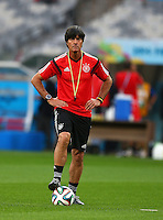 Germany coach Joachim Loew looks on during training ahead of tomorrow's semi final vs Brazil