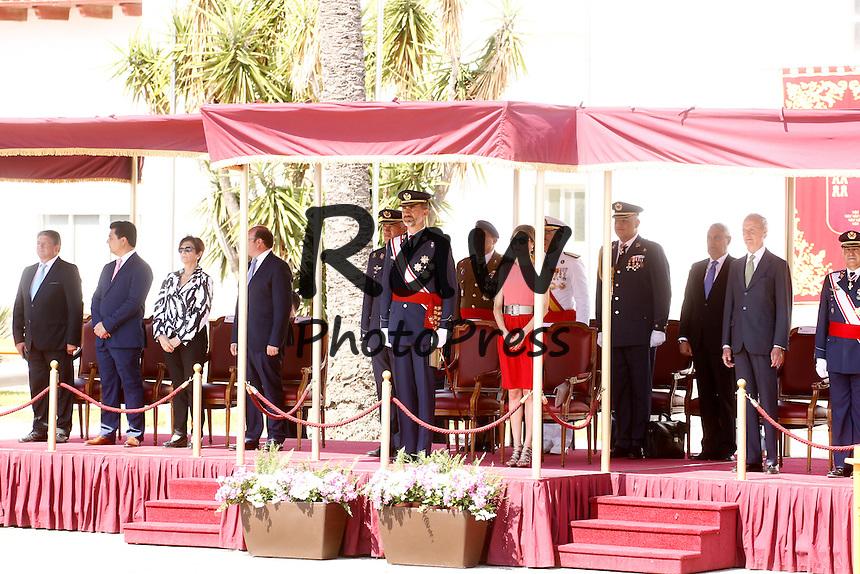 Los Reyes, Don Felipe y Do&ntilde;a Letizia, han visitado la Academia del Aire en Murcia para entregar los Reales Despachos de Empleo.<br /> <br /> King Felipe and Queen Letizia have visited the Air General Academy for the Royal Dispatches in San Javier, Murcia, on July 14th, 2014.