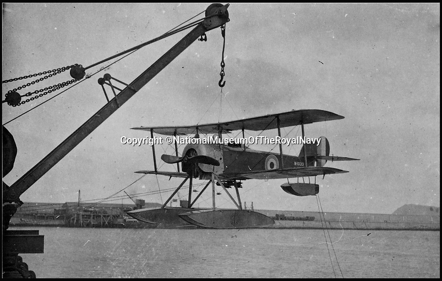 BNPS.co.uk (01202 558833)<br /> Pic: NationalMuseumOfTheRoyalNavy/BNPS<br /> <br /> 1916 Sopwith Baby had to be winched into the sea before take off.<br /> <br /> From 'Glorified fireworks' to pilotless drones in only 100 years.<br /> <br /> A museum has recreated the world's first air to air missile - almost 100 years to the day after they were first used.<br /> <br /> The worlds only remaining Sopwith Baby seaplane has been fitted with the rockets to show how missile weapons have come on a long way in the last century.<br /> <br /> In 1916 the British boffins used what were essentially glorified fireworks to protect the country from the threat of Zeppelin airship raids.<br /> <br /> The pilots had to get within 200 metres of their target to have any accuracy and risked being shot at or catching on fire themselves if they did hit their target.<br /> <br /> Staff at the Fleet Air Arm Museum near Yeovil, Somerset, have used old engineering drawings and photographs to replicate the aircraft missiles on the only surviving Sopwith Baby in the world for a new exhibition.<br /> <br /> The missiles were called Le Prieur rockets, named after the French lieutenant who invented them, and they were first used at the Battle of Verdun in April 1916.