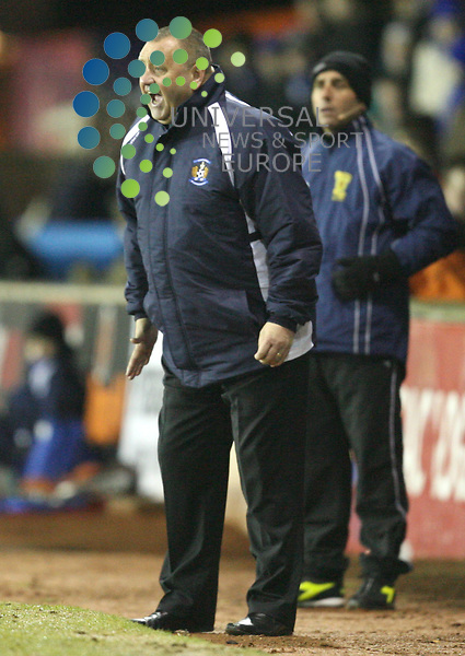 Kili manager Jimmy Calderwood looks frustrated during The Active Nation Scottish Cup Fourth Round match between Kilmarnock and Falkirk at Rugby Park kilmarnock 18/01/10..Picture by Ricky Rae/universal News & Sport (Scotland).