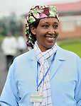 Hygienist  Desange Mukasine works with expecting mothers and dads at Gisenyi community hospital, Rwanda...