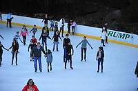Nov. 12, 2010 - New York City, NY - Ice skaters enjoy outdoor skating in Central Park  in New York City November 12, 2010. (Photo by Alan Greth)