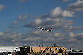 The private jet carrying United States President-elect Donald Trump departs Laguardia Airport in New York, New York on its way to Louisiana and Michigan, on December 9, 2016, New York.<br /> Credit: Aude Guerrucci / Pool via CNP