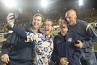 BERKELEY, CA - October 21, 2016: The Cal Water Polo team is honored at halftime for their national championship. Cal played Oregon at Cal Memorial Stadium.