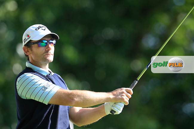 Ignacio GARRIDO (ESP) during round 1 of the 2015 BMW PGA Championship over the West Course at Wentworth, Virgina Water, London. 21/05/2015<br /> Picture Fran Caffrey, www.golffile.ie: