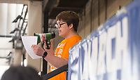 NWA Democrat-Gazette/BEN GOFF @NWABENGOFF<br /> Caleb Casey, a student at Springdale Har-Ber High, speaks Saturday, March 24, 2018, during a local March for Our Lives event in downtown Springdale. The local march was organized by students from Springdale Har-Ber High in solidarity with marches across the country today to call for an end to gun violence.