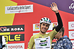 Isaac Canton Serrano (ESP) Kometa Cycling Team wearing the mountains Maglia Verde Pistacchio at sign on before the start of Stage 2 of Il Giro di Sicilia running 236km from Capo d'Orlando to Palermo, Italy. 4th April 2019.<br /> Picture: LaPresse/Fabio Ferrari | Cyclefile<br /> <br /> <br /> All photos usage must carry mandatory copyright credit (© Cyclefile | LaPresse/Fabio Ferrari)