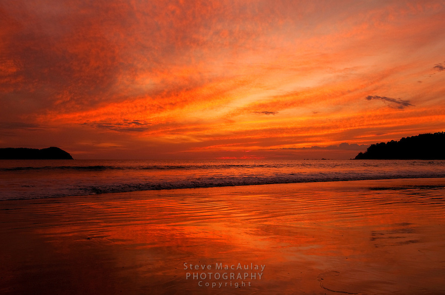 Sunset from the beach at Manuel Antonio National Park, Costa Rica
