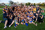 The victorious Patumahoe team with the McNamara Cup. Counties Manukau Premier Club Rugby final between Patumahoe & Waiuku played at Bayers Growers Stadium Pukekohe on Saturday August 8th 2009. Patumahoe won 11 - 9 after leading 11 - 6 at halftime.