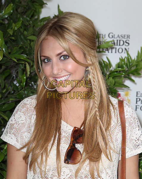Cassie Scerbo.Elizabeth Glaser Pediatric AIDS Foundation's 23rd Annual 'A Time For Heroes' Celebrity Picnic held at The Wadsworth Theater, Los Angeles, California, USA..3rd June 2012.headshot portrait braid plait hair lace top white  .CAP/ADM/FS.©Faye Sadou/AdMedia/Capital Pictures.