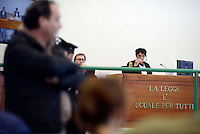 Roma, 19 Novembre 2015<br /> La Presidente Rosanna Ianniello.<br /> Aula bunker di Rebibbia<br /> Terza udienza del processo Mafia Capitale,