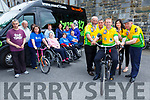Colm Cooper with Danny, Johnny, Maura and Michael Healy-Rae appealing for cyclists for the Ring of Kerry cycle for the Buy A Bus campaign
