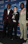 LOS ANGELES, CA - JULY 11: Vernon Davis, Patrick Willis and Jimmy Murphy pose in the press room during the 2012 ESPY Awards at Nokia Theatre L.A. Live on July 11, 2012 in Los Angeles, California.
