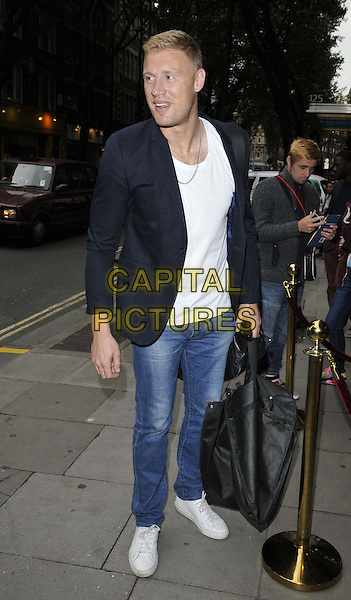 LONDON, ENGLAND - AUGUST 27: Andrew &quot;Freddie&quot; Flintoff attends the &quot;The Guvnors&quot; VIP film screening, Odeon Covent Garden cinema, Shaftesbury Avenue, on Wednesday August 27, 2014 in London, England, UK. <br /> CAP/CAN<br /> &copy;Can Nguyen/Capital Pictures