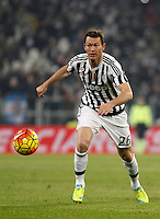 Juventus' Stephan Lichsteiner in action during the Italian Serie A football match between Juventus and Roma at Juventus Stadium.