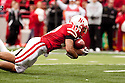 24 October 2009: Nebraska running back Roy Helu Jr. fumbles the football for a turn over against Iowa State early in the second half at Memorial Stadium, Lincoln, Nebraska. Iowa State defeated Nebraska 9 to 7.