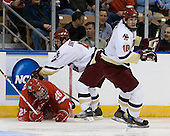 Ryan Jones (MiamiU - Chatham, ON), Mike Brennan (Boston College - Smithtown, NY), Brian Boyle (Boston College - Hingham, MA) - The Boston College Eagles defeated the Miami University Redhawks 4-0 in the 2007 NCAA Northeast Regional Final on Sunday, March 25, 2007 at the Verizon Wireless Arena in Manchester, New Hampshire.